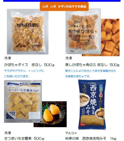 【OGISO NEWS】10月 11月 オギソのおすすめ商品